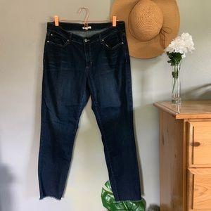 Eileen Fisher Organic Cotton Frayed Hem Jeans